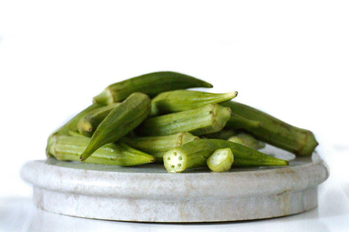 Pile of okra