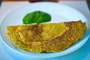 Puda with Chutney (Vegan Omelette)