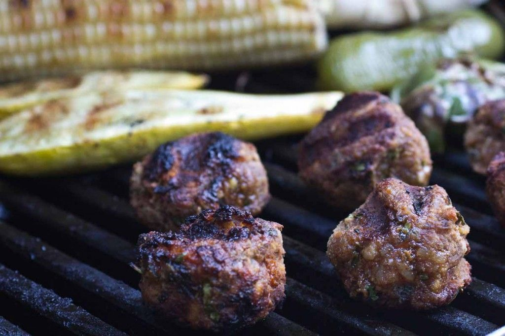 Grilled Vegan Meatballs (kofta)