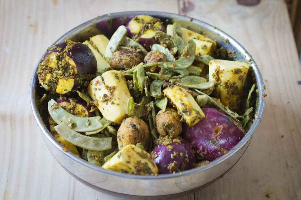 Undhiyu (Mixed Vegetable and Dumpling Casserole)