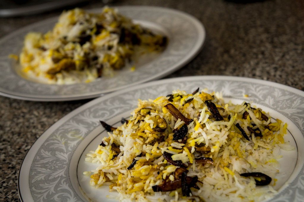 Mushroon Biryani by Indiaphile.info