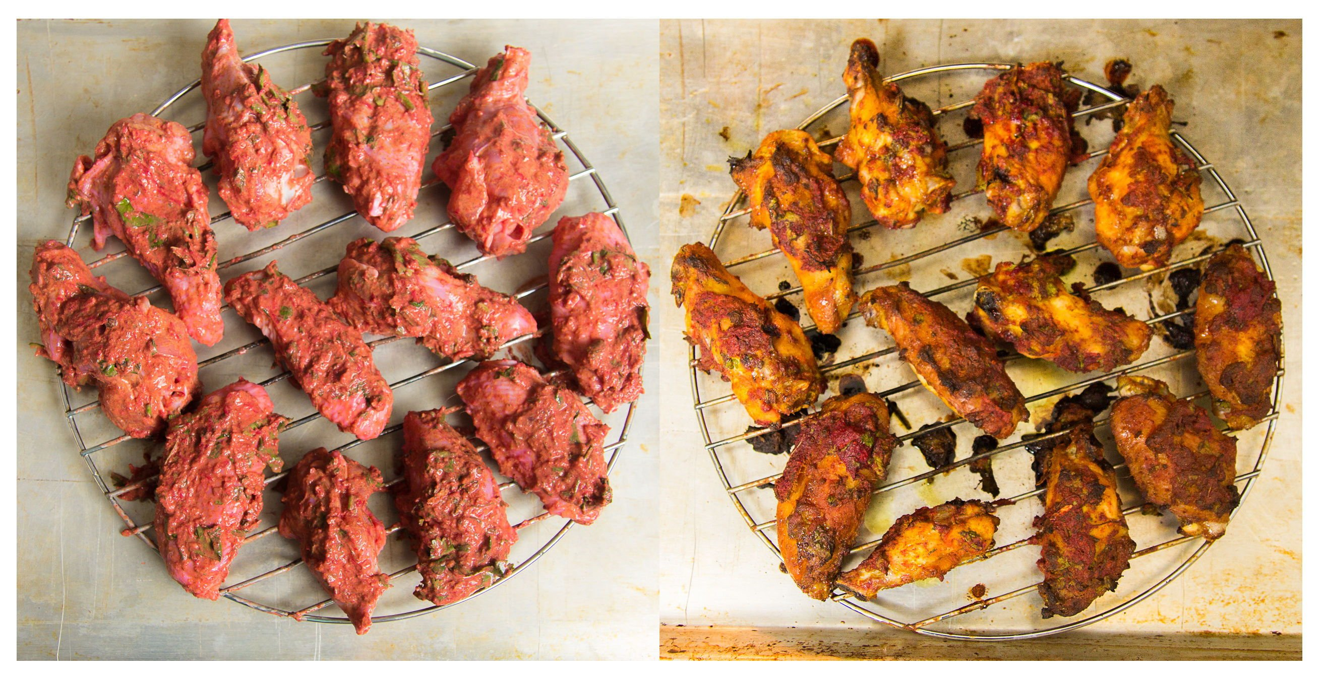 Baked tandoori chicken wings with cumin yogurt dip indiaphile baked tandoori chicken wings by indiaphilefo forumfinder Image collections