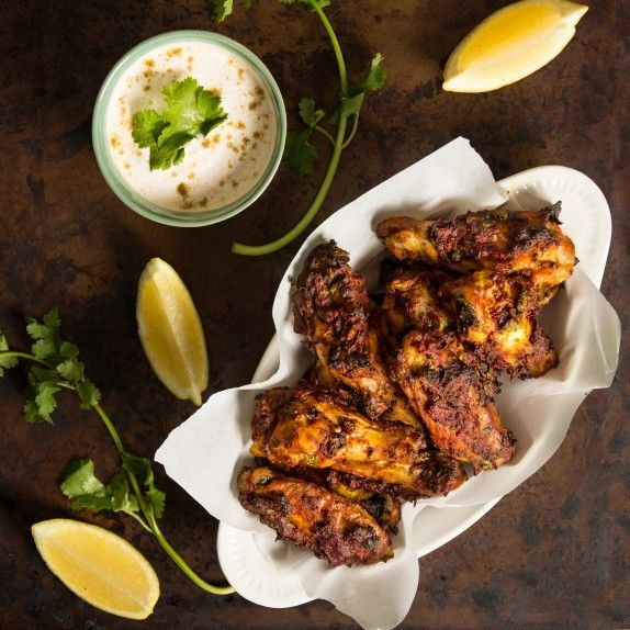 Baked Tandoori Chicken Wings with Cumin Yogurt Dip - Indiaphile