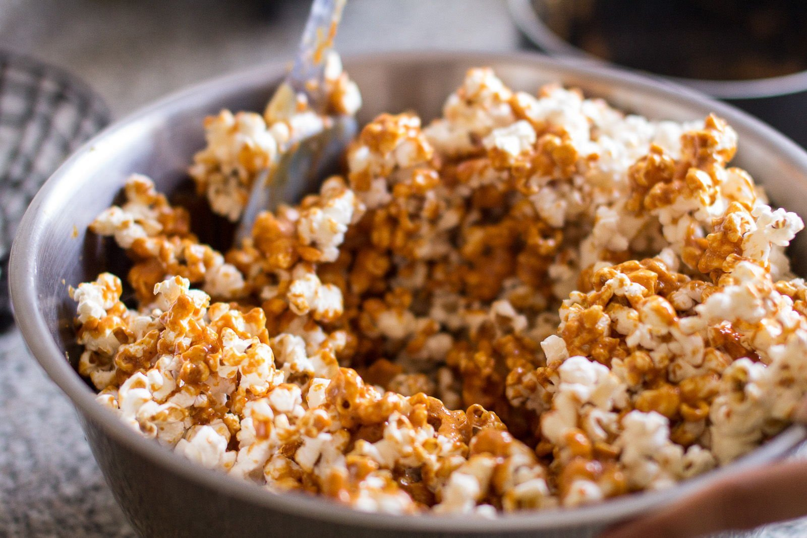Chili Caramel Popcorn for the Food Swap - Indiaphile