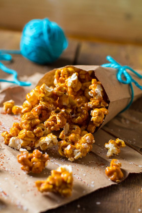 Chili Caramel Popcorn