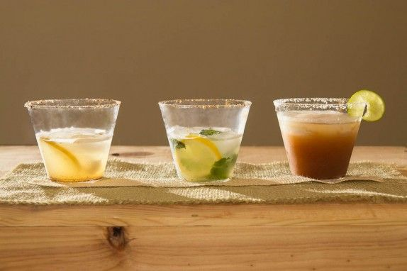 Lemon-Cumin Margarita, Mint-Lemon Cumin Margarita, Ginger Tamarind Margarita