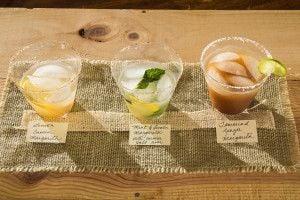 Lemon-Cumin Margarita, Mint-Lemon Cumin Margarita, Ginger Tamarind Margarita