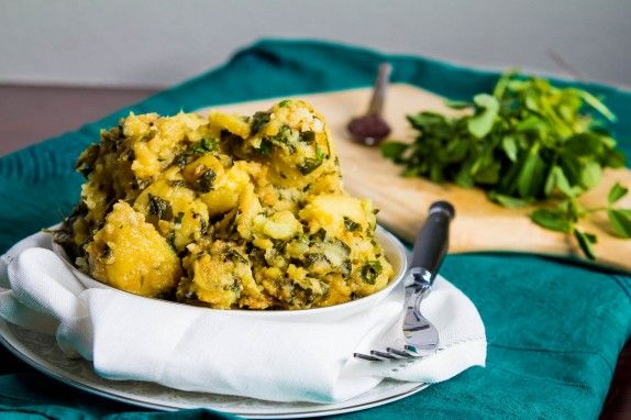 Sweet Potato and Fenugreek Saute by Indiaphile.info
