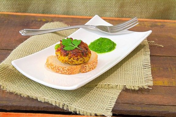 Quinoa Fritters by Indiaphile.info