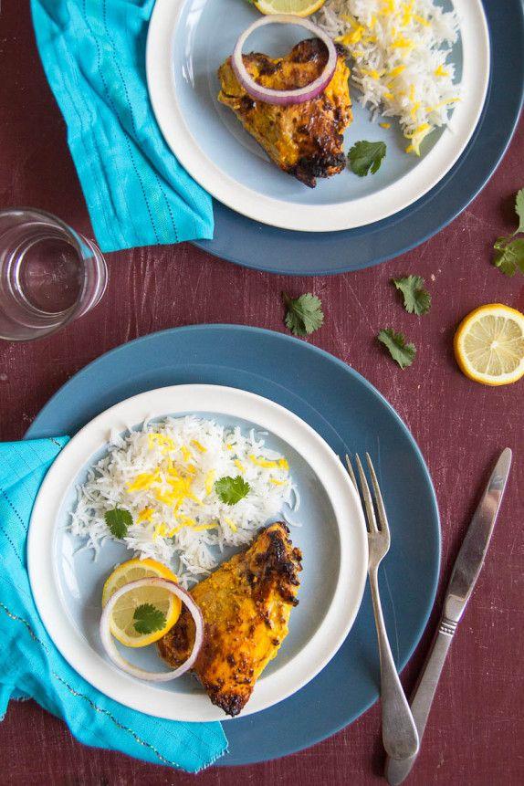 Saffron Tandoori Chicken by Indiaphile.info