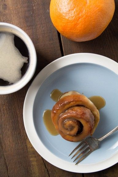 Chai Spiced Sticky Buns by Indiaphile.info