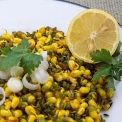 Sprouted mung beans saute