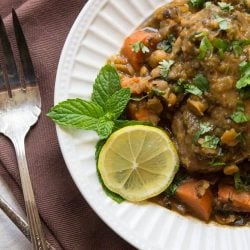 Chicken Tagine with Split Peas