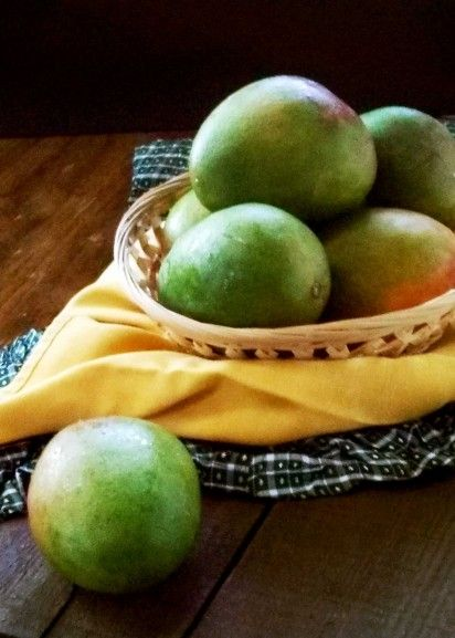 Mangoes taken by cell phone and natural light