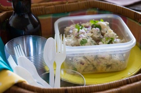 Indian style cumin-ginger potato salad by Indiaphile.info