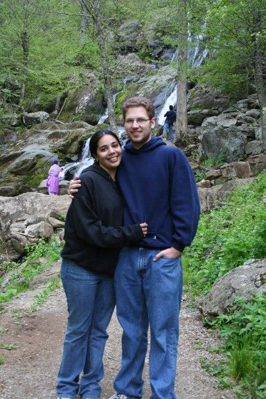 Steve and I at Shenandoah National Park, May 2006.