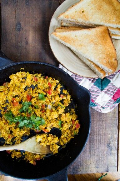 Spicy scrambled eggs recipe by indiaphile.info