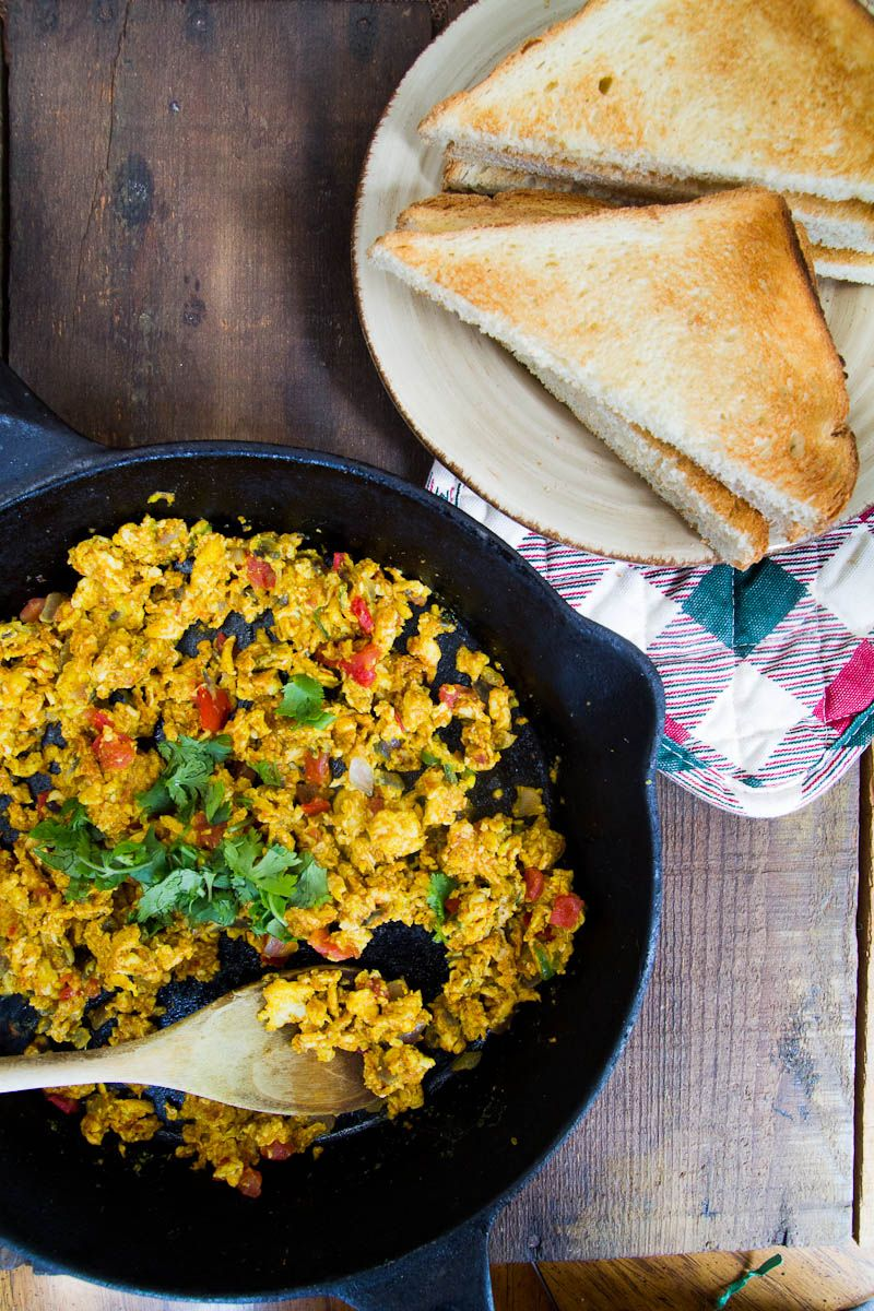 Spicy Scrambled Eggs with Tomatoes (Bhurji) - Indiaphile