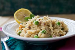 Savory Cream of Wheat with Onions and Peas (Upma). Recipe by Indiaphile.info
