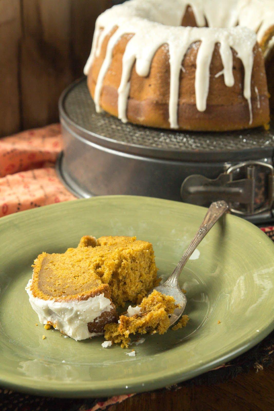 Chai Spiced Pumpkin Bundt Cake recipe at Indiaphile.info