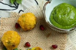 Spicy Potato Fritters (Batata Vada) recipe at Indiaphile.info