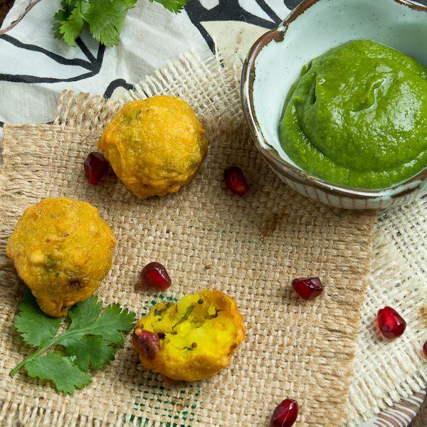 Indian Potato Fritters Recipe — Dishmaps