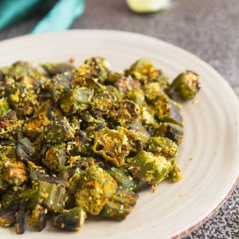 Stir Fried Okra With Coconut recipe by Indiaphile.info