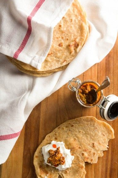 How To Make Paratha Indian Flat Bread At Home recipe by Indiaphile.info