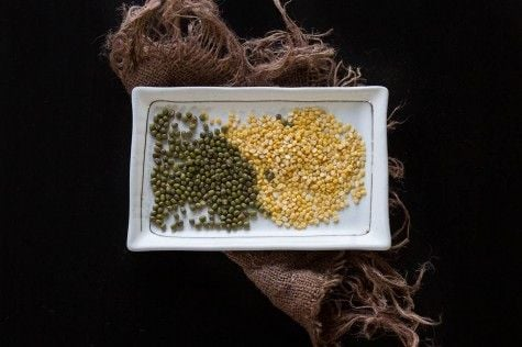 Whole and Split Mung Beans Mug Lentils by Indiaphile.info