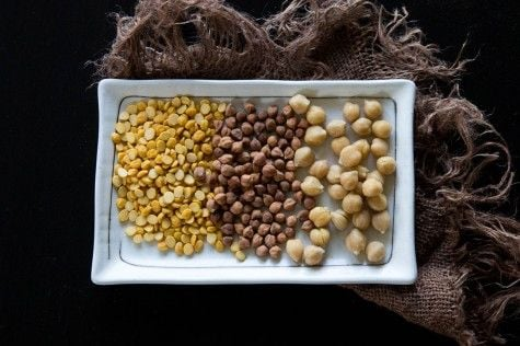 Split Chana Dal and Garbanzo Beans by Indiaphile.info