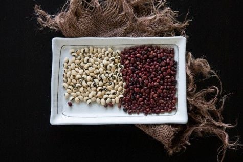 Black Eyed Peas and Azuki Beans by Indiaphile.info