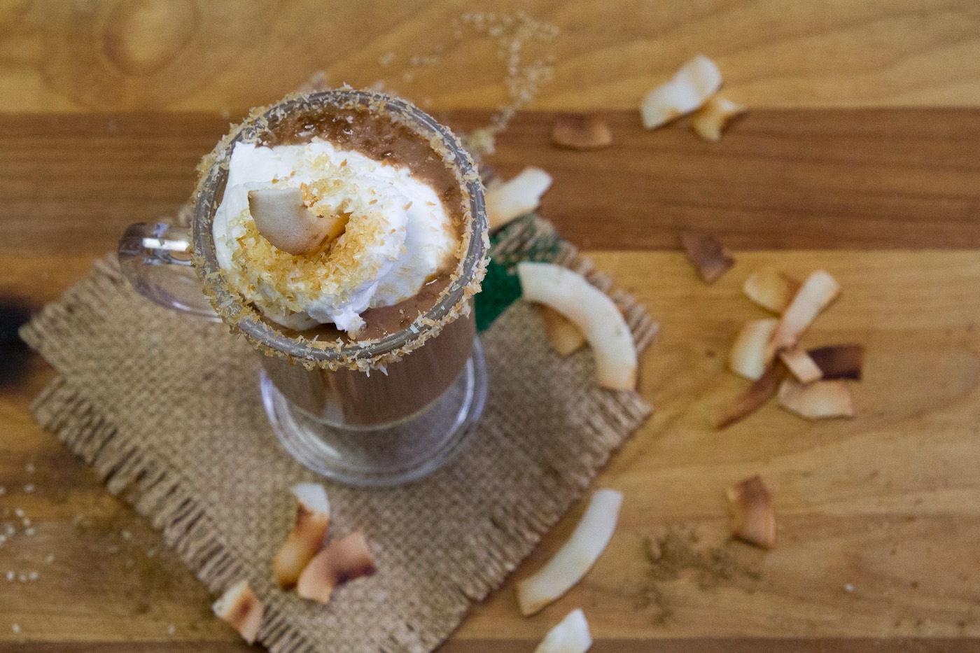 Coconut Chai Hot Chocolate recipe by Indiaphile.info