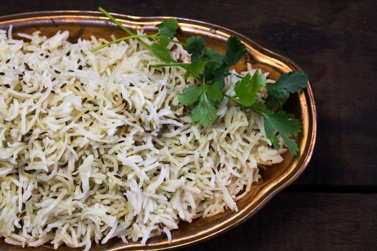 Jeera (Cumin) Rice recipe by Indiaphile.info
