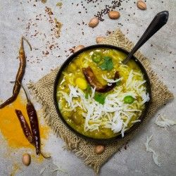 Gujarati Dal - the flavors of this are a delicate balance of spicy, sweet and sour.