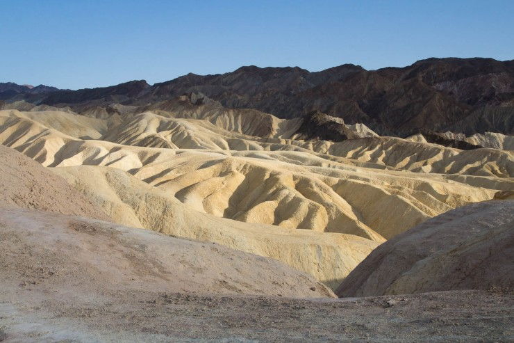 Badlands and Zabriskie Point in Death Valley