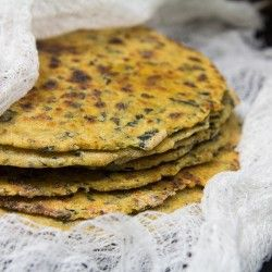 Kale Quinoa Paratha recipe by Indiaphile.info