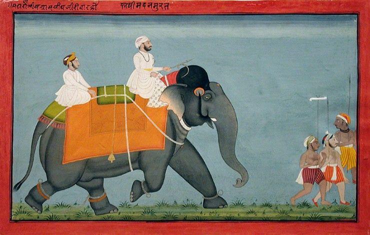 Sangram Singh's elephant Madan Murat