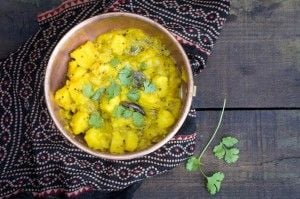 Potato Curry - This potato curry is ready in minutes using either a pressure cooker or instant pot