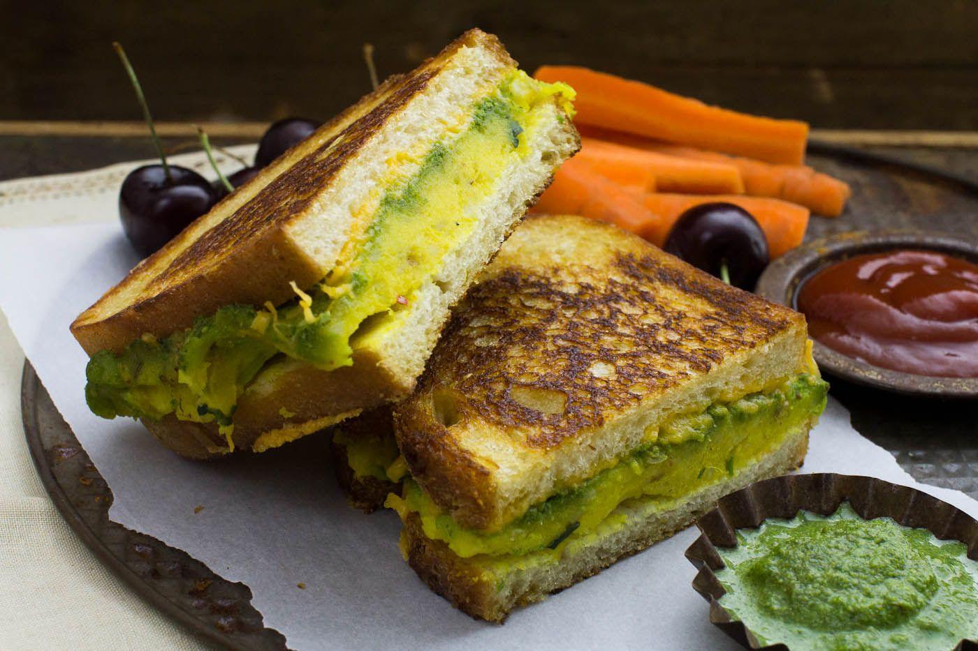 Indian Street Food Sandwich