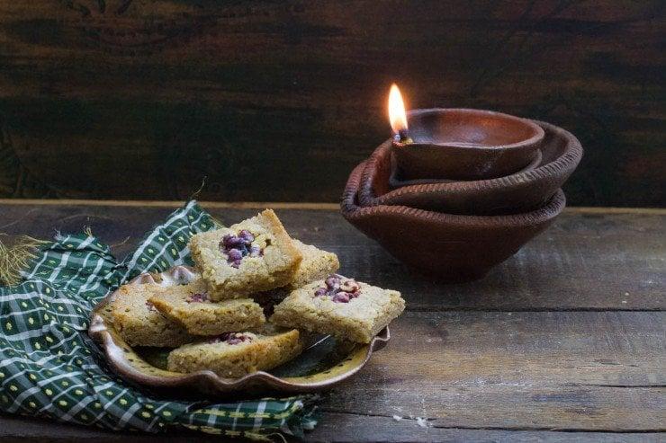 Gluten-free Walnut Bars (Walnut Burfi)