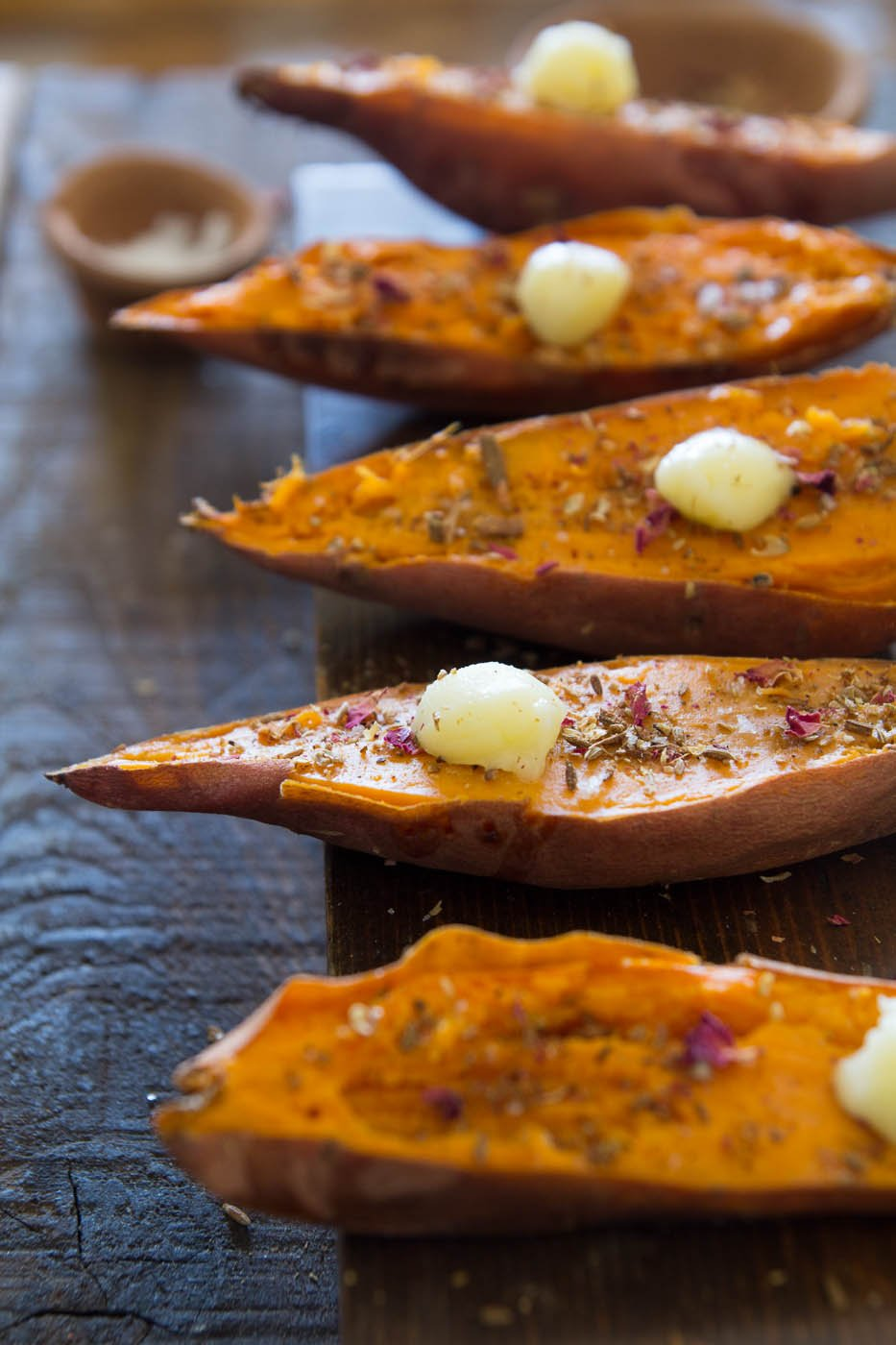 Indian spiced roasted sweet potatoes to welcome in 2015 indiaphile indian spiced roasted sweet potatoes with ghee forumfinder Images