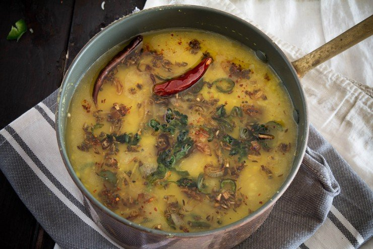 Moong Dal with Turmeric and Shallots recipe by Indiaphile.info